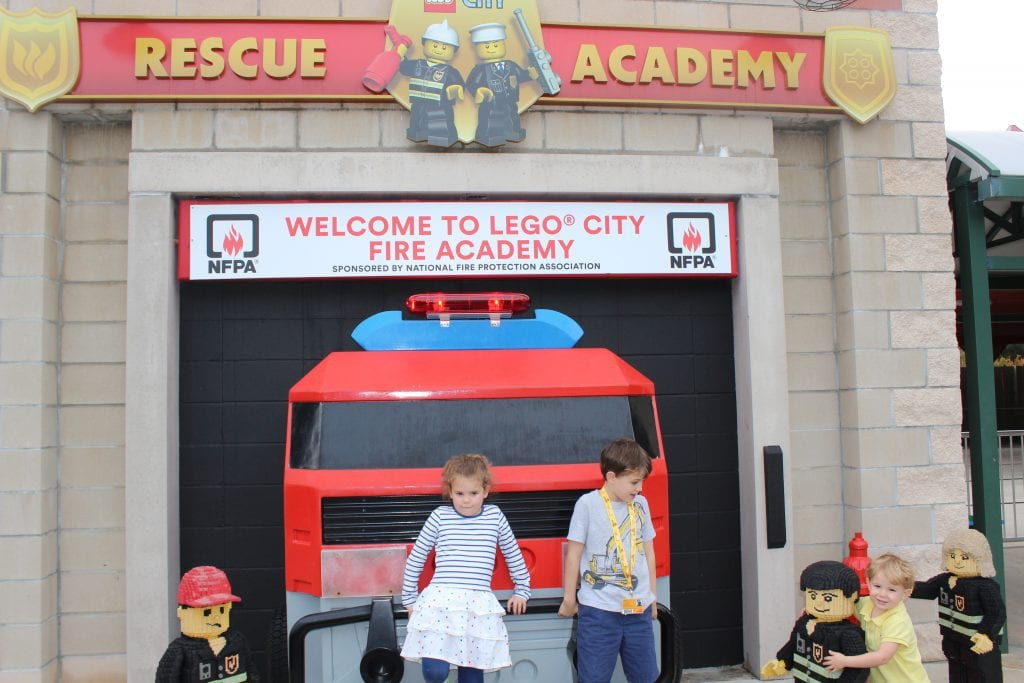 Kids Standing In Front Of Rescue Academy