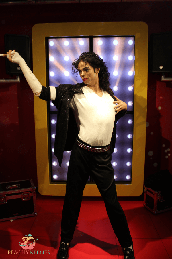 Wax statue of Michael Jackson at Madame Tussauds