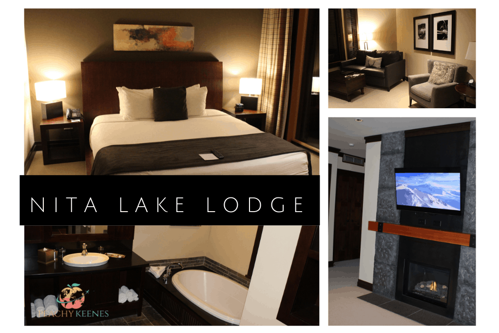 Pictures of a one bedroom suite at nita lake lodge