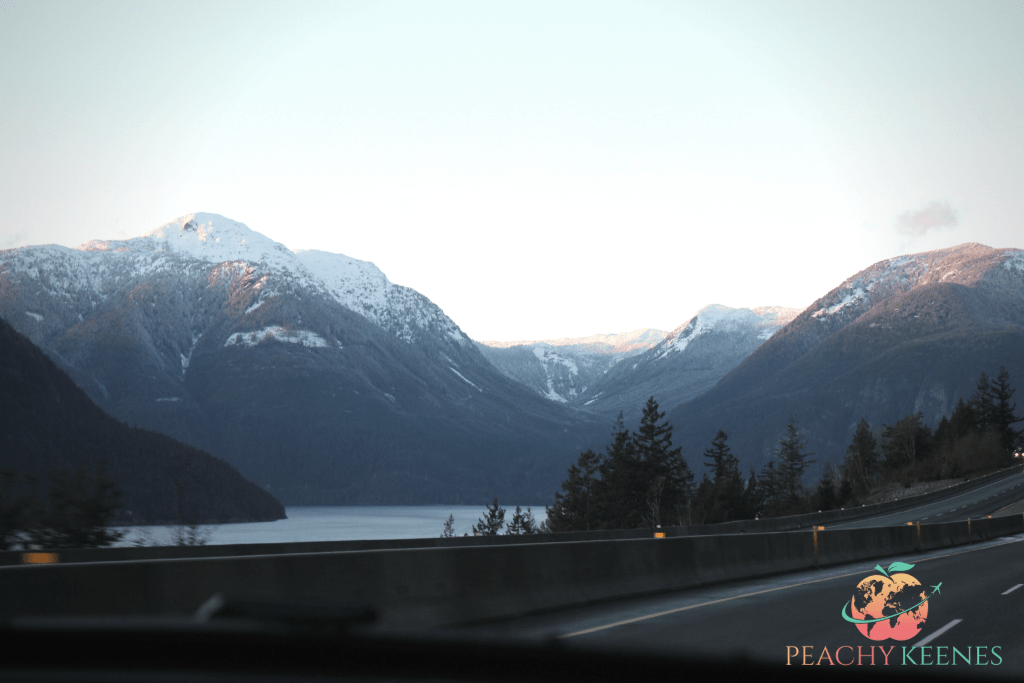 Picture of mountains on sea to sky highway