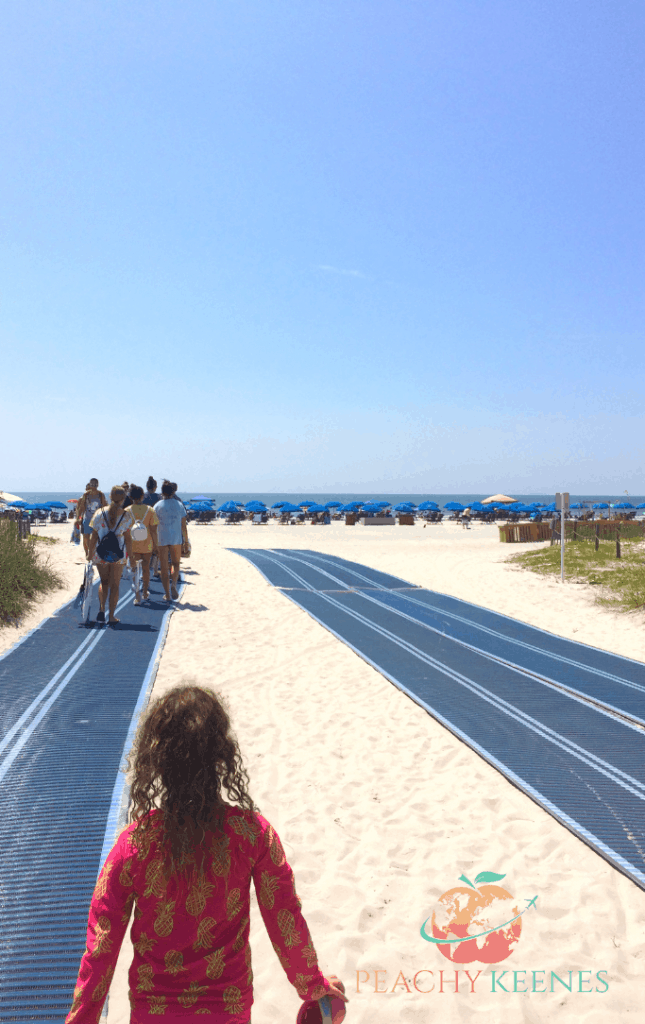 Matting walkway at Caligny Beach