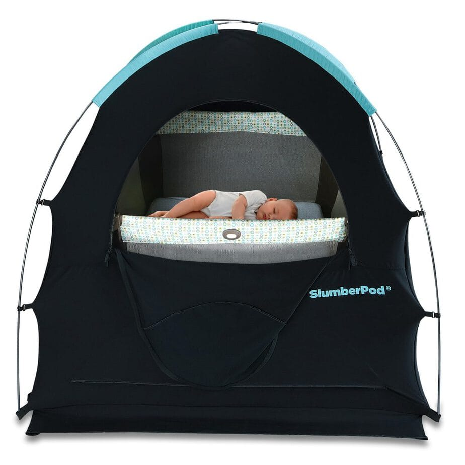 slumberpod-a pod to put over a pack and play to provide the baby with better sleep
