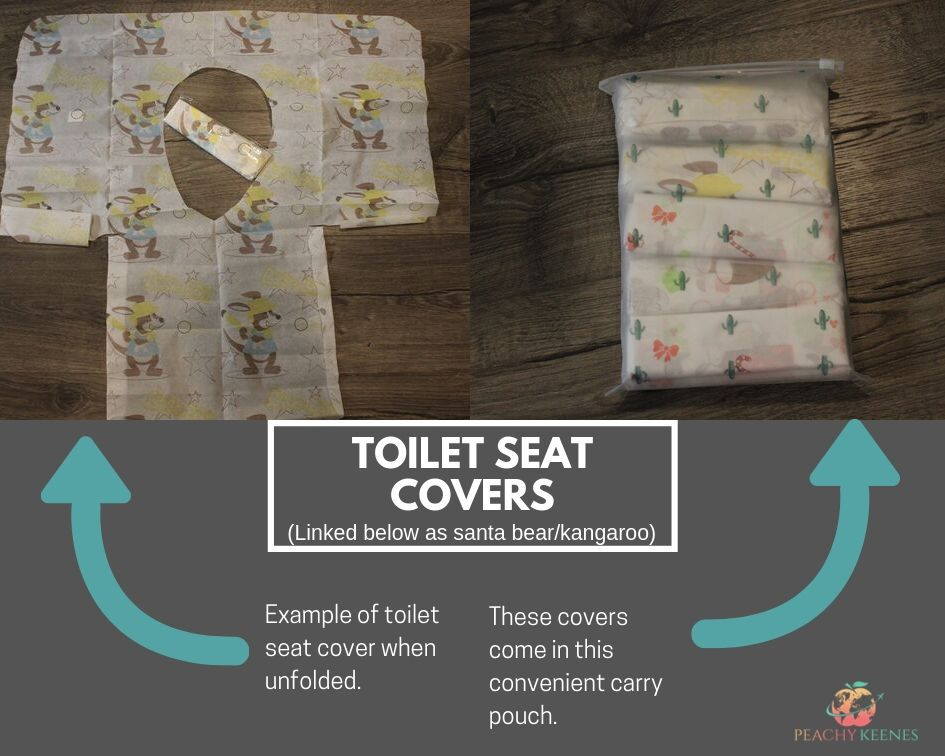 toilet seat covers & pouch they come in
