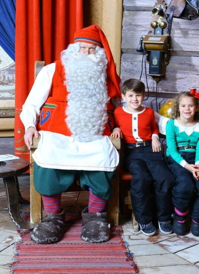 Picture of Santa Claus with children