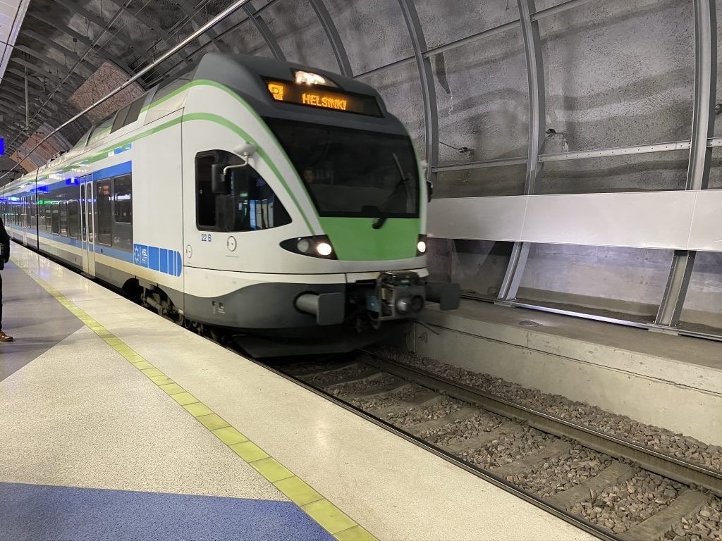 picture of VR train in Helsinki Finland