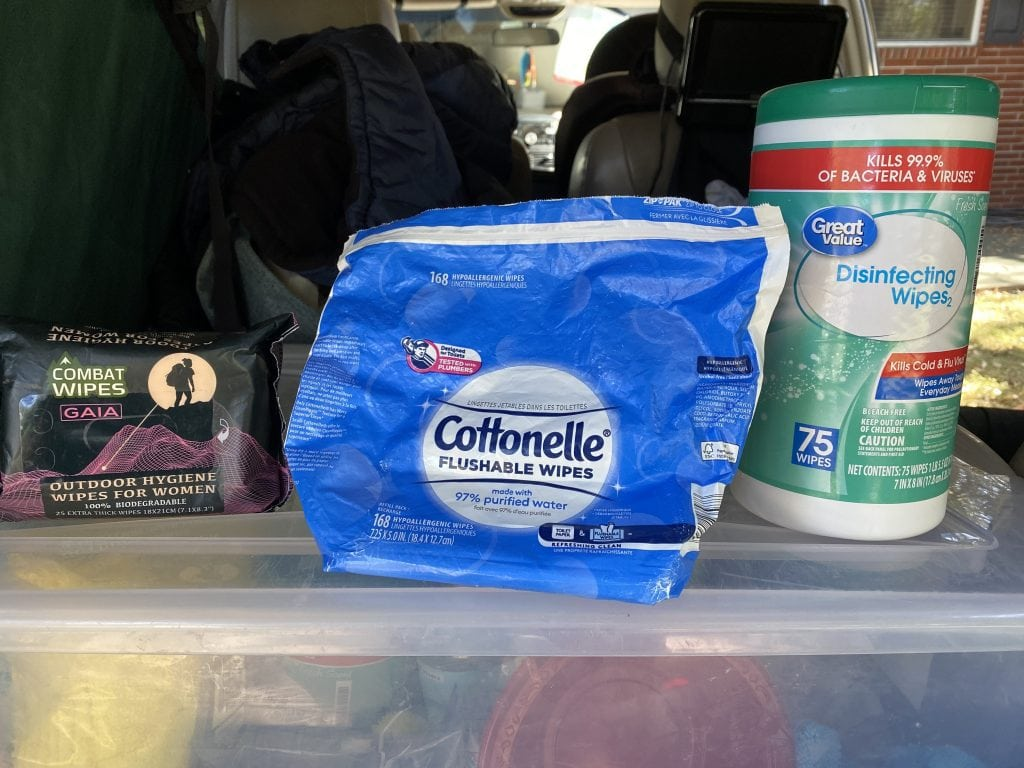 Family Camping Gear: Wipes