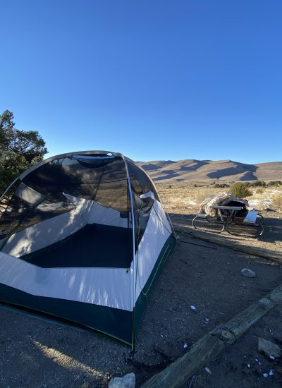 Tent at sand dunes national park