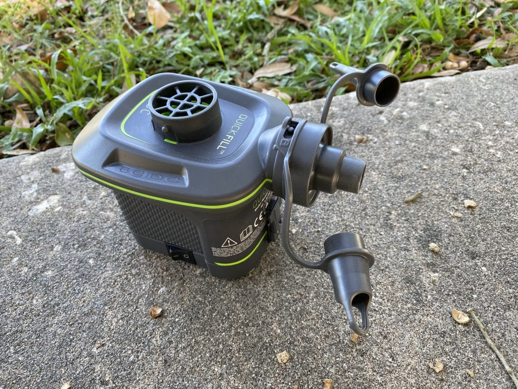 Family Camping Gear: Battery Powered Pump