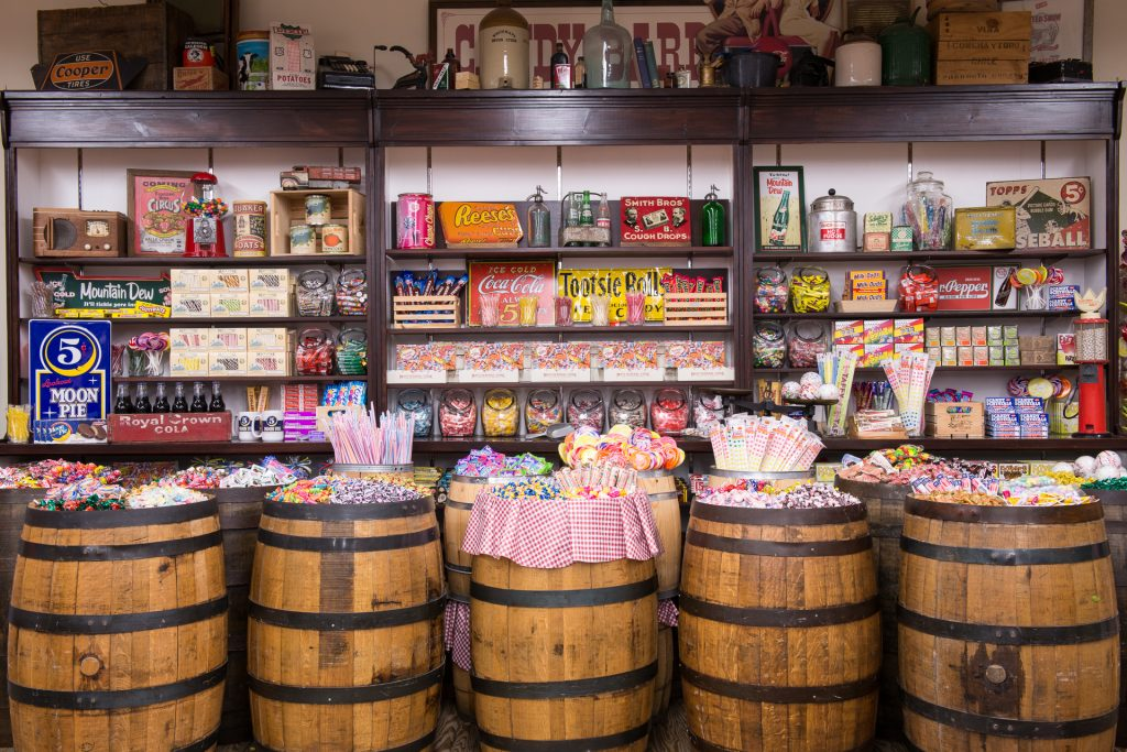 Candy Barrels inside the Mast General Store Boone